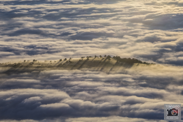 in un mare di nebbia