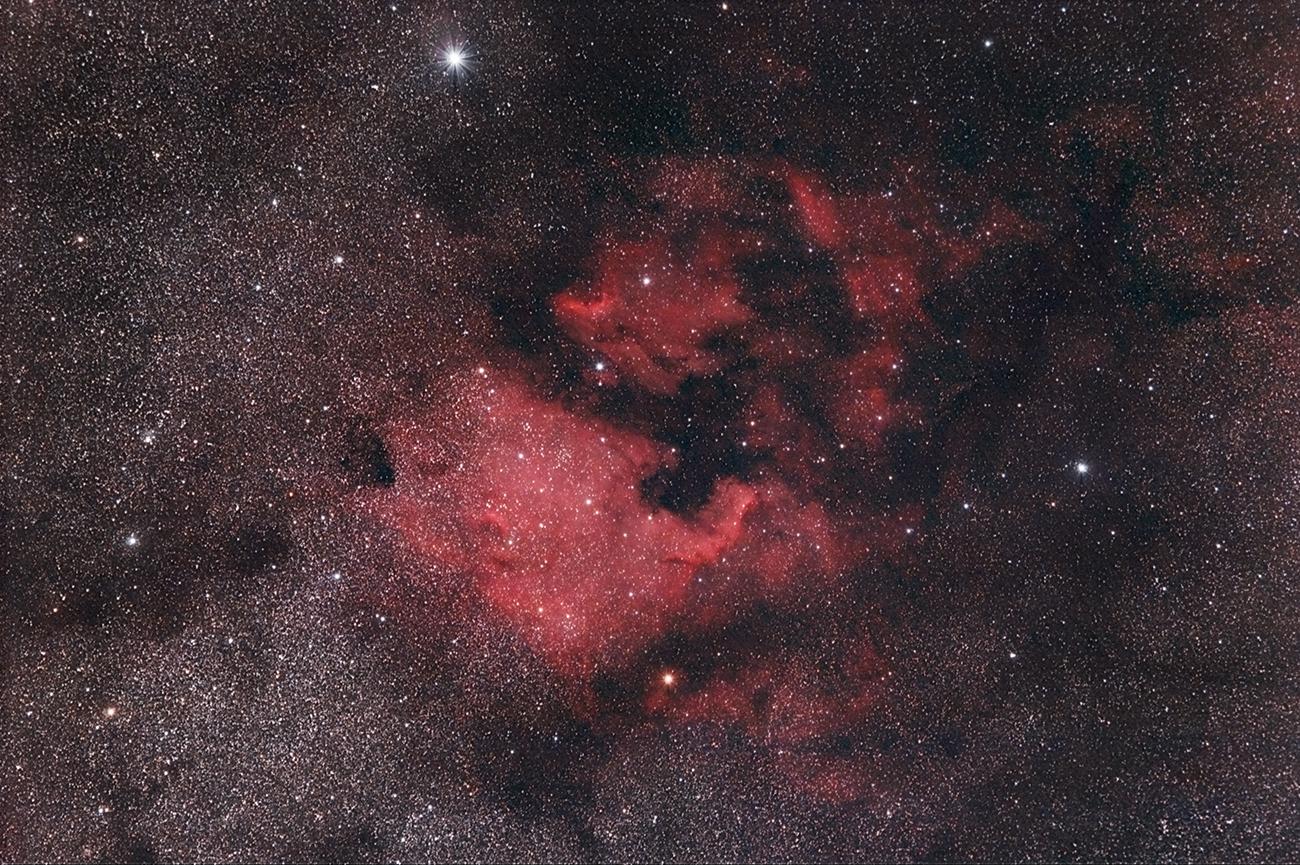 nebulosa nord america e pellicano